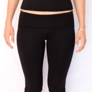 Straight Leg Capri Black
